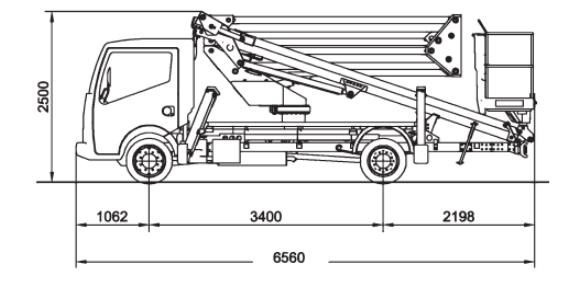 Podnośnik Nissan Cabstar szczegóły techniczne